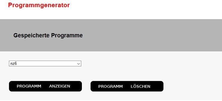 Buerofitness Programmgenerator