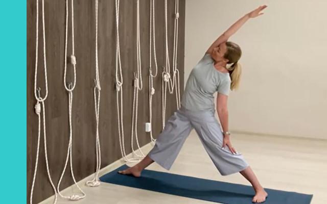 Yoga Fitnessübung
