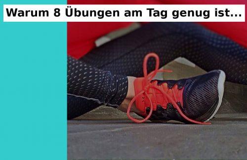 8 Fitnessuebungen sind genug